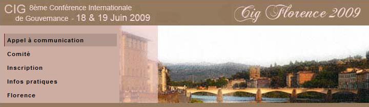 CIG 2009 / FLORENCE (Italie)